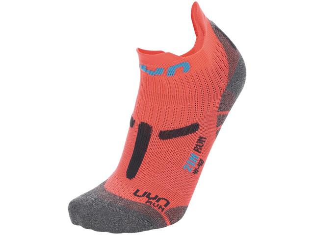 "UYN 2"" Running Socks Women, coral fluo/anthracite"